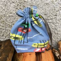 Vintage Fabric Knitting Bag - Blue Skies